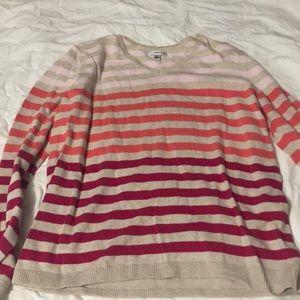 brand: croft&barrow,cute multi color striped shirt